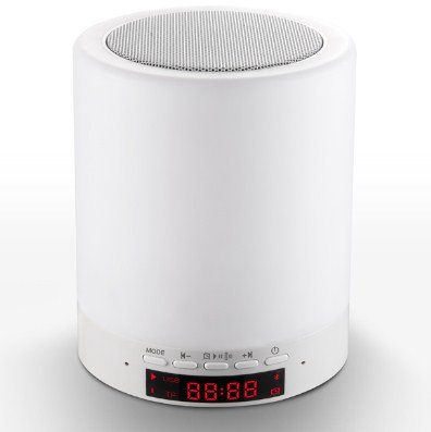 TOUCH SENSOR +BLUETOOTH 4.0 HIFI SPEAKER + DIGITAL ALARM CLOCK + MP3 PLAYER + HANDS FREE CALL: 5 IN