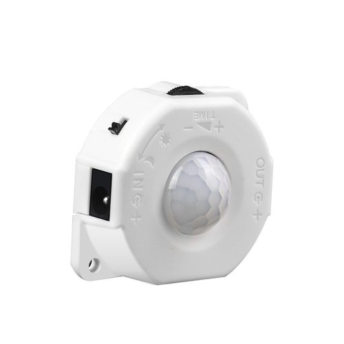 DC 5V-24V 8A PIR Motion Activated Sensor Switch,Day/Night Light Sensor with DC Cable for LED Strip