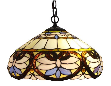 "XINYUDE Lighting  Tiffany Style Ceiling Pendant Hanging Lamps, 16"", Multicolour"