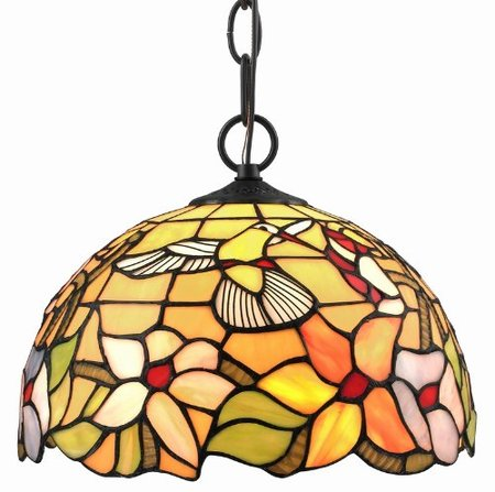 XINYUDE Lighting  Tiffany Style Stained Glass Hanging Lamp Ceiling Fixture