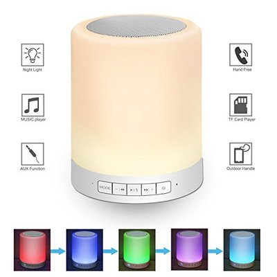 LED Night Light for Kids with Speaker and Touch Control by - Bedside Baby Nursery Bluetooth