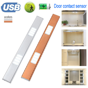 24 LEDs Rechargeable inner Cabinet Lighting Activated by door contact Sensor Wireless door contact S